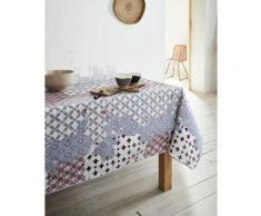 Nappe en coton enduit PVC rouge 160x200 cm