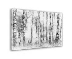 Tableau bouleaux en monochrome Toile imprimée