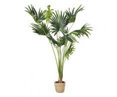 Palmier artificiel et pot tressé H146