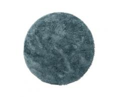 Tapis à poils longs bleu D 200 rond