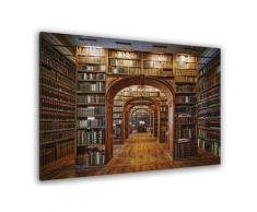 Tableau librairie des sciences Toile imprimée
