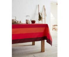 Nappe jacquard enduit acrylique rouge 160x250 cm