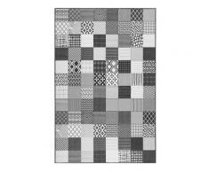 Tapis outdoor tissé plat motif vintage 160x225