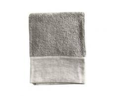 Serviette de toilette finition du lin lavé beige 100x150