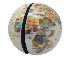 Serre livres globe terrestre en pierres fines nacre