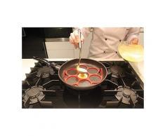 Moule silicone 7 blinis pancakes pour poêle noir Patisse