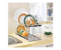 Egouttoir à vaisselle 2 niveaux Maximex