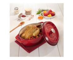Cocotte en fonte ovale 29 cm 3,5 L rouge Mathon