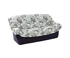 Housse canapé fauteuil accoudoirs motifs plumes