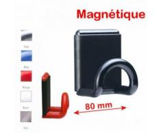 Porte manteaux magnétique mural 1 patère couleur E8453