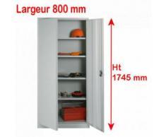 Armoire à portes battantes H 1780 x L 800 mm
