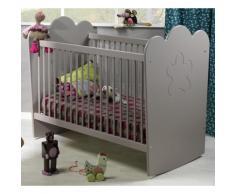 Lit bébé Silène gris à barreaux,