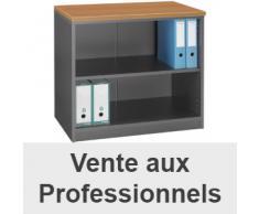 Bibliothèque basse navis merisier/anthracite