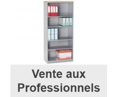 Bibliothèque haute navis hêtre/aluminium