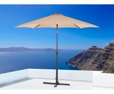 Parasol en métal - toile mokka ronde - ø 267 cm - Varese