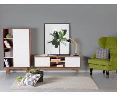 Armoire - meuble de rangement - commode en MDF - marron-blanc - Indianapolis