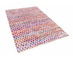 Tapis rectangulaire en coton - Tapis multicolore 160x230 cm - bariolé - Arakli