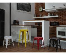 Chaise de bar - Bar - 46 cm - Blanche et dorée - Cabrillo