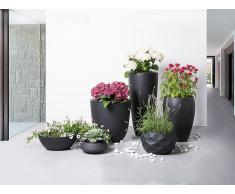 Cache-pot - Accessoir de jardin - 30x30x30 cm - Noir - Ohrit