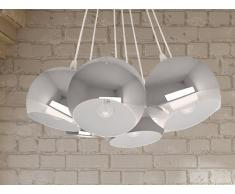 Lampe de plafond - suspension - plafonnier - luminaire argent - Olza