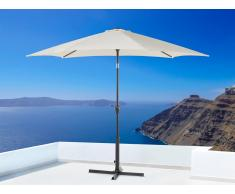 Parasol en métal - toile beige ronde - ø 267 cm - Varese