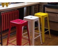 Tabouret de bar - Chaise de bar design - 60 cm - jaune - Cabrillo