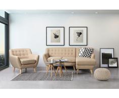 Fauteuil en tissu - fauteuil tapissé beige - Motala