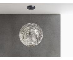 Lampe de plafond - suspension - plafonnier - luminaire nickel - Seine