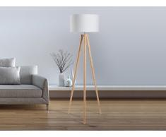 Lampadaire design - luminaire - lampe de salon - blanc - Nitra