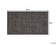 Tapis rectangulaire - marron - 80 x 150 cm - Saray