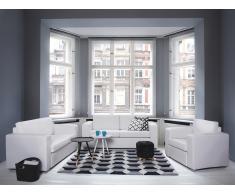 Canapé 3 places - Canapé en cuir - Canapé blanc - Helsinki