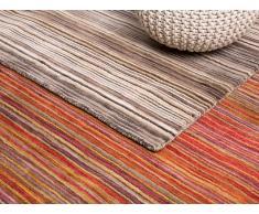 Tapis rectangulaire en coton - tapis en tons bruns - 80x150 cm - Niksar