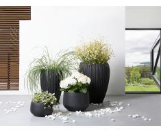 Cache-pot - Accessoir de jardin - 44x44x67 cm - Noir - Arreso