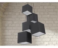 Lampe de plafond - suspension - plafonnier - luminaire noir - Mesta