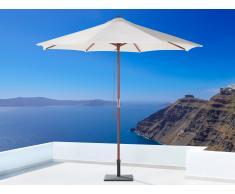 Parasol en bois - toile beige sans lambrequin - Toscana