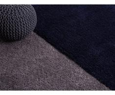 Tapis - poil long - Polyester - 160x230 - Bleu foncé - Edirne