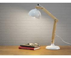 Lampe à poser - lampe de salon, de chevet, de bureau - blanc - SALADO