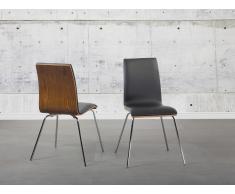 Chaise de salle à manger - siège design couleur bois foncé - Harlem