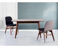 Table de salle à manger - Table de cuisine - extensible - 120-150x75 cm - marron - Madox