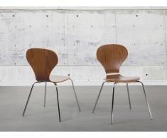 Chaise de salle à manger - siège design couleur bois - Queens