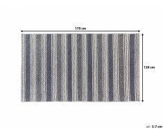 Tapis rectangulaire - beige et gris - 120x170 cm - Patnos
