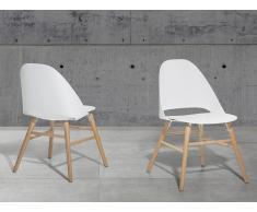 Chaise design - siège en plastique blanc - Milford