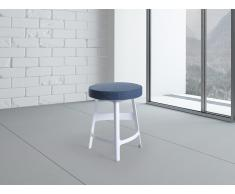 Tabouret de bar - Chaise de bar design - bleu et blanc - Hamburg (bas)