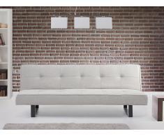 Canapé convertible - canapé-lit en tissu gris blanc - Derby