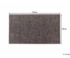 Tapis rectangulaire - marron - 120 x 170 cm - Saray