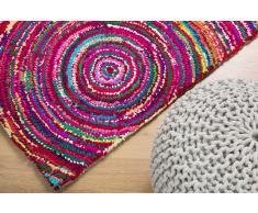 Tapis rectangulaire - tapis en coton et polyester - multicolore - 80x150 cm - Kozan