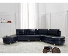 Canapé d'angle - canapé en cuir noir - sofa Copenhagen