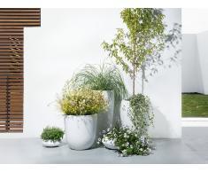 Cache-pot de fleurs - blanc - accessoire de jardin - 47x47x100 cm - Onega