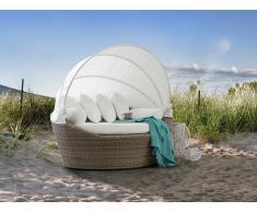 Salon de jardin - Salon de plage - Panier en rotin marron clair - Sylt
