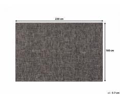 Tapis rectangulaire - marron - 160 x 230 cm - Saray